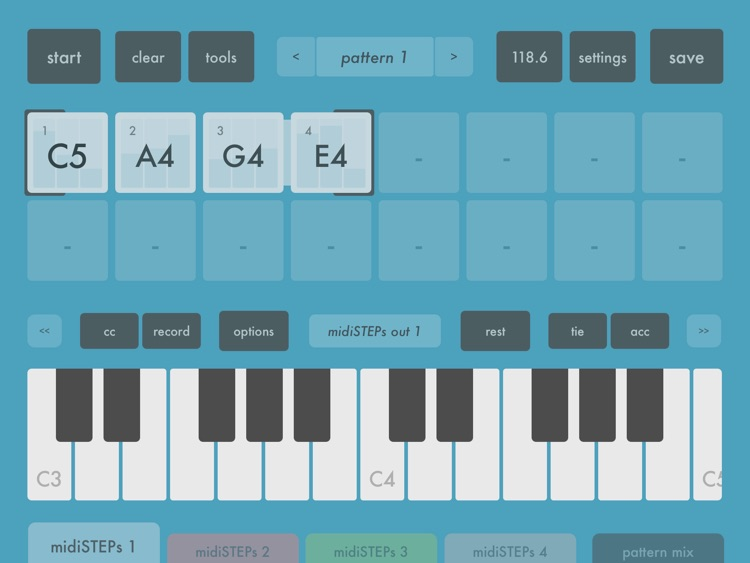 midiSTEPs - midi step sequencer toy screenshot-0