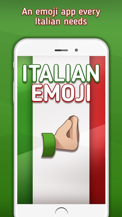 Italian Emoji -  Italian Emojis, Stickers and Gifs screenshot-0