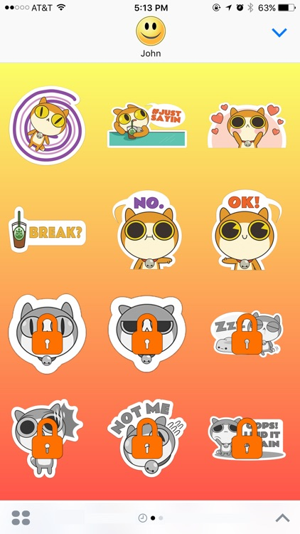 Cat Roller - VR Stickers for iMessage
