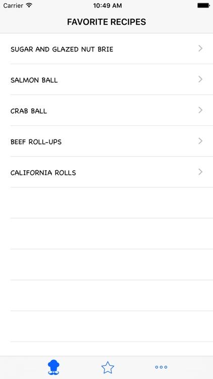 Appetizer Recipes HD screenshot-3