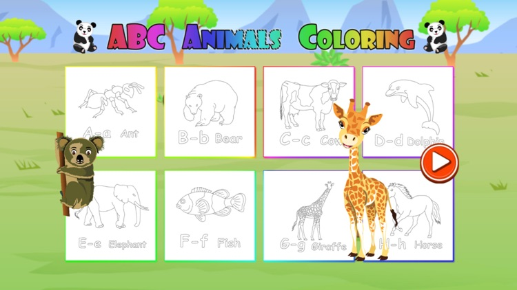 Printable Animal Abc Coloring Pages #4452 Animal ABC Coloring ... | 422x750