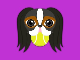 Tri Color Japanese Chin Stickers for iMessage