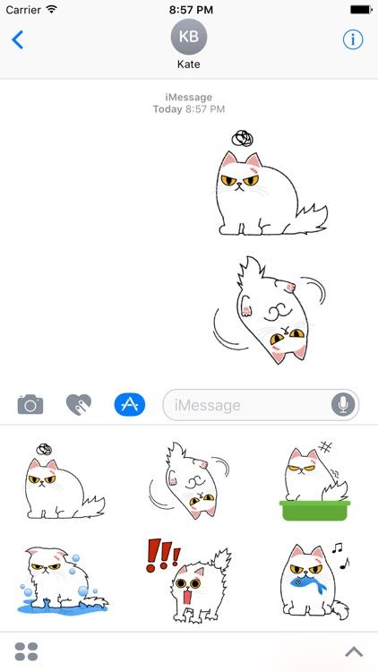 Cute Persian Cat Stickers Pack