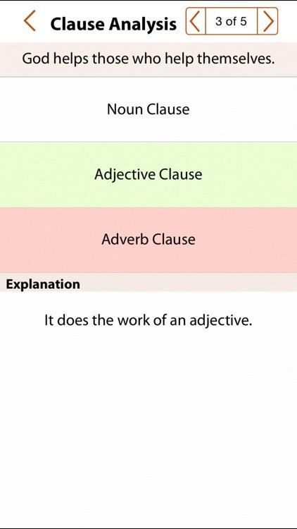 Grammar Express: Clause Analysis screenshot-3