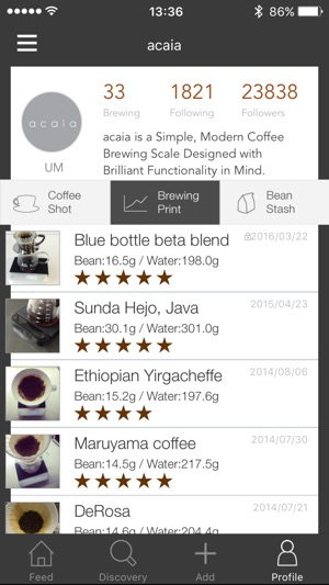 how to take a screenshot with iphone 5 acaia coffee on the app 6539