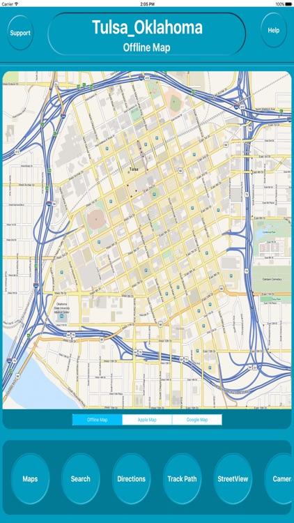 Tulsa Oklahoma Offline City Maps Navigation
