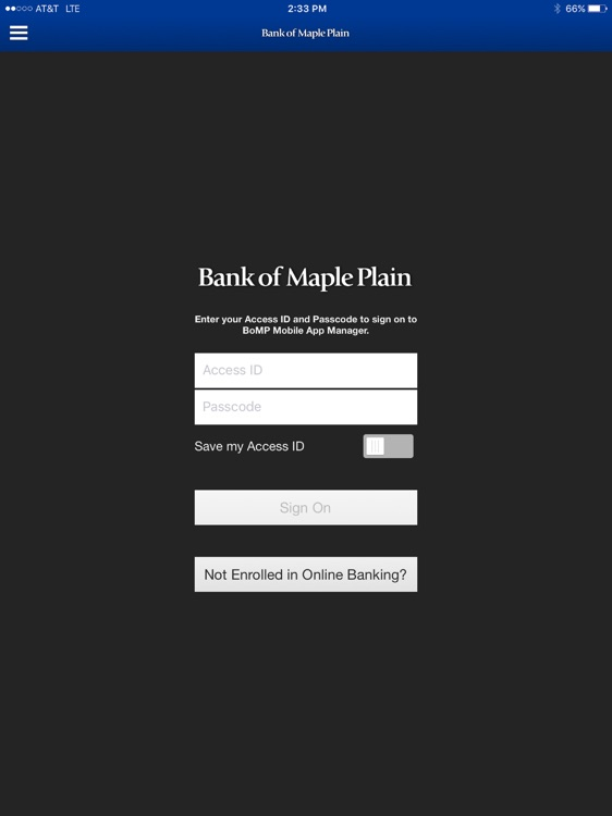 Bank of Maple Plain for iPad