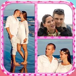 Valentine's Day Love Collage: Cute Photo Frames