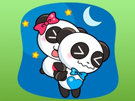 Cute Couple of Panda Stickers