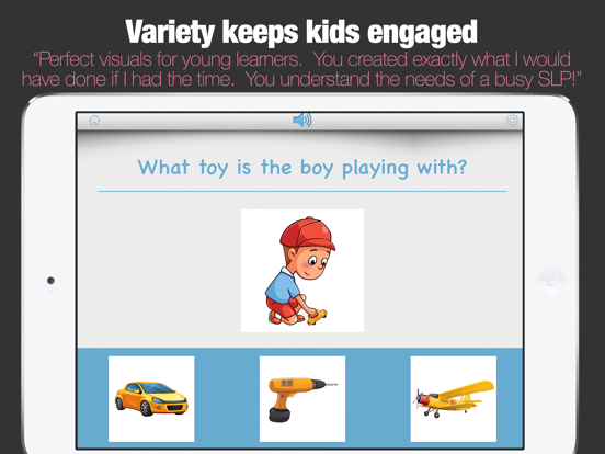 WH Questions Preschool Speech and Language Therapy screenshot 8