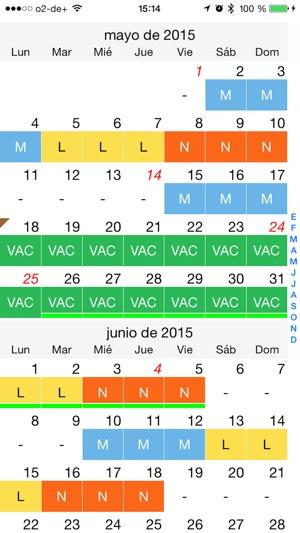 Calendario Turnos.Calendario De Turnos De Trabajo