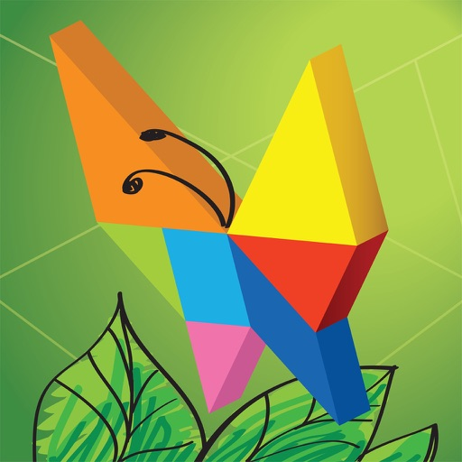 Kids Learning Puzzles: Garden Animals, K12 Tangram iOS App