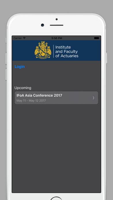 IFoA Conference App screenshot one