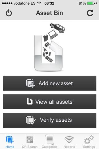 Screenshot of Asset Bin