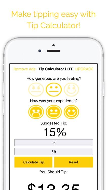 Tip Calculator LITE - Tipping Tool screenshot-4
