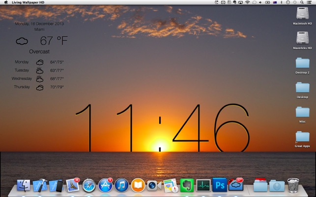 Live Wallpaper Screensaver On The Mac App Store