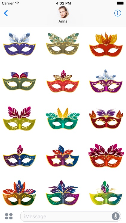 Glamorous Carnival Masks for iMessage