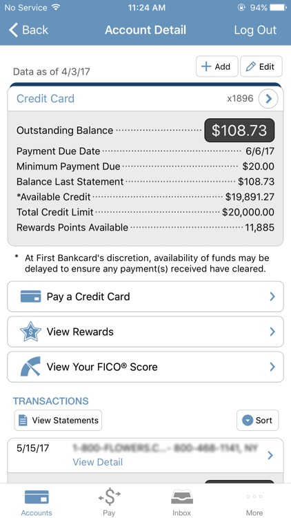 First Bankcard screenshot-1