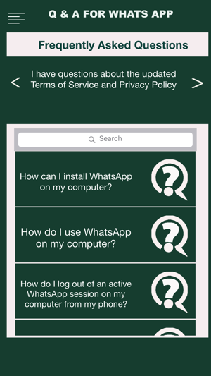 Q & A For Whatsapp on the App Store