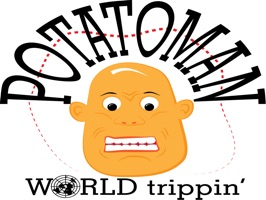Potatoman World Trippin' stickers by drop sound