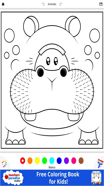 Coloring Book for Kids: Animal Square Heads screenshot-4