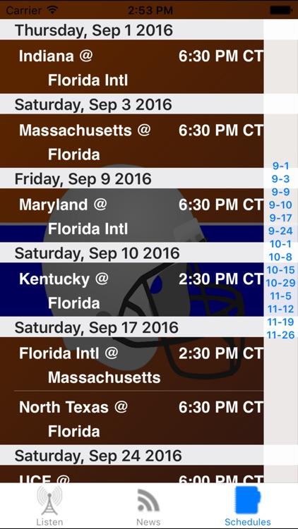 Florida Football - Sports Radio, Schedule & News screenshot-3