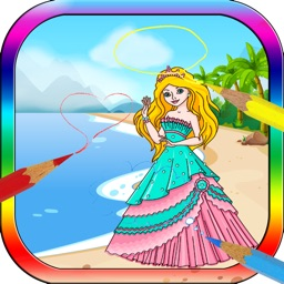 Coloring Book for Little Girl - Princess and Fairy
