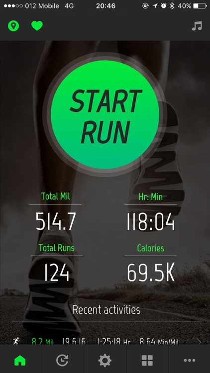 Running Distance Tracker. screenshot-0