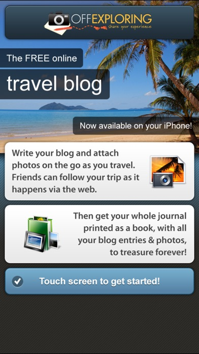 off exploring travel blog travel journal by proven web ios