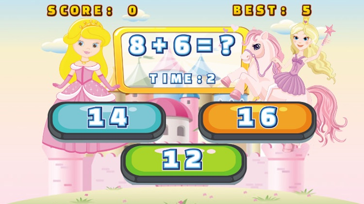 Princess Learning Game For Kid 2nd Grade Math Test