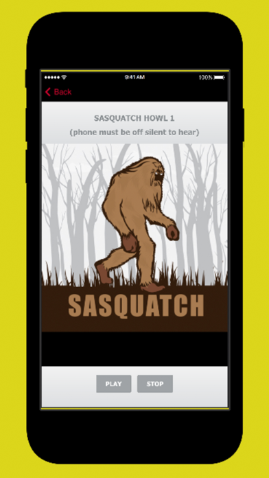 Sasquatch Calls screenshot one