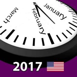 2017 US Holiday Calendar AdFree