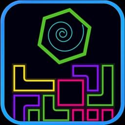 Hexagon Shot down Blocks
