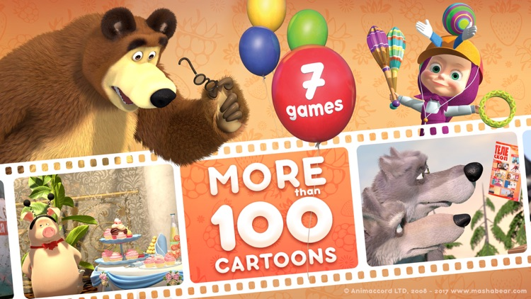Masha and the Bear: videos, games, songs for kids screenshot-0