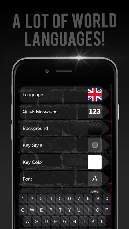 Black keyboard Themes – Cool Fonts Changer screenshot-3