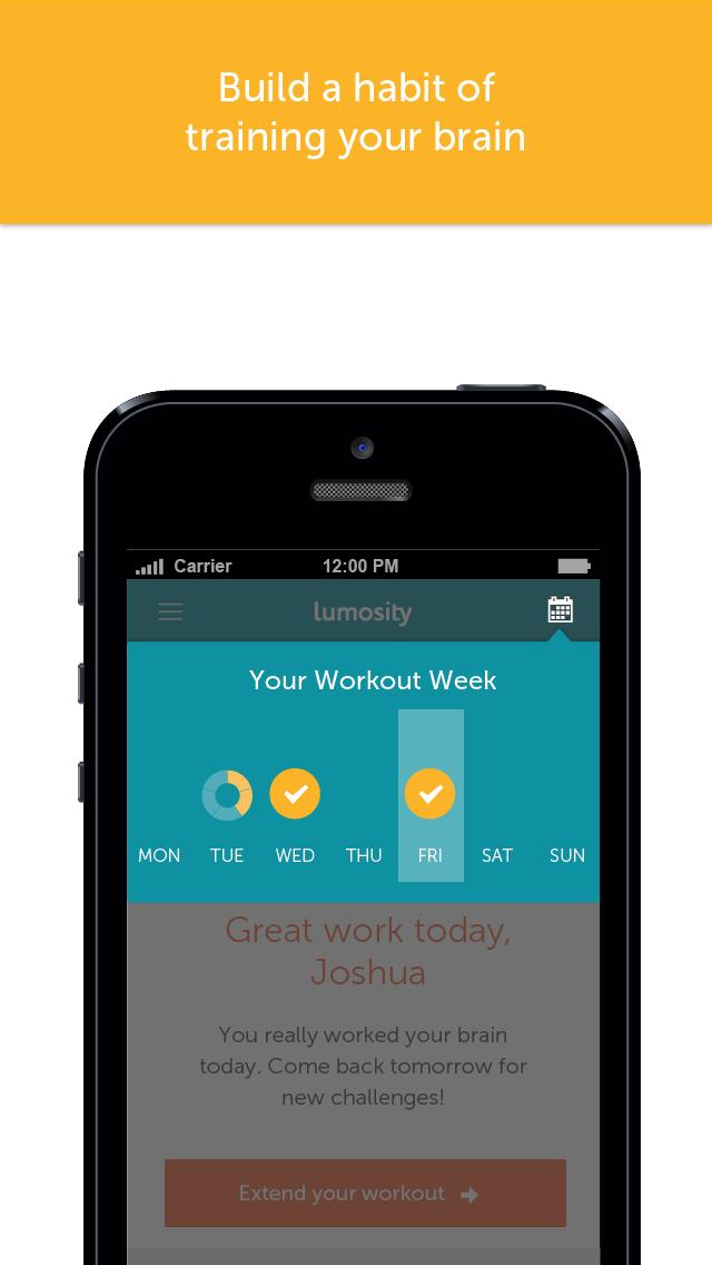 Screenshot for Lumosity – allenamento mentale in Italy App Store
