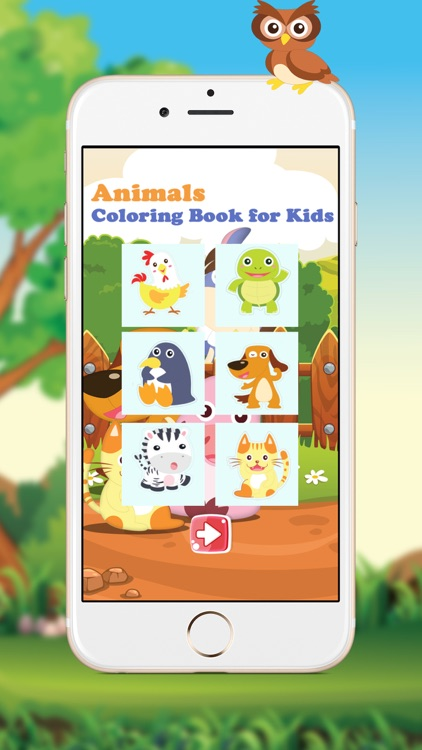 Animals, Coloring Book for Kids