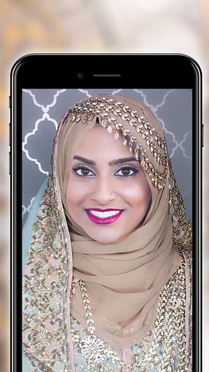 Wedding Hijab Photo Montage - Free Face Decorator screenshot-4