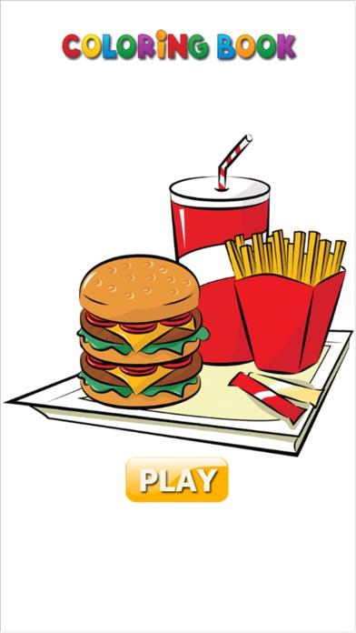 Hello Food - Malbuch für mich & KinderScreenshot von 1