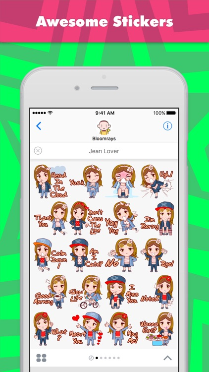 Jean Lover stickers by Bloomray