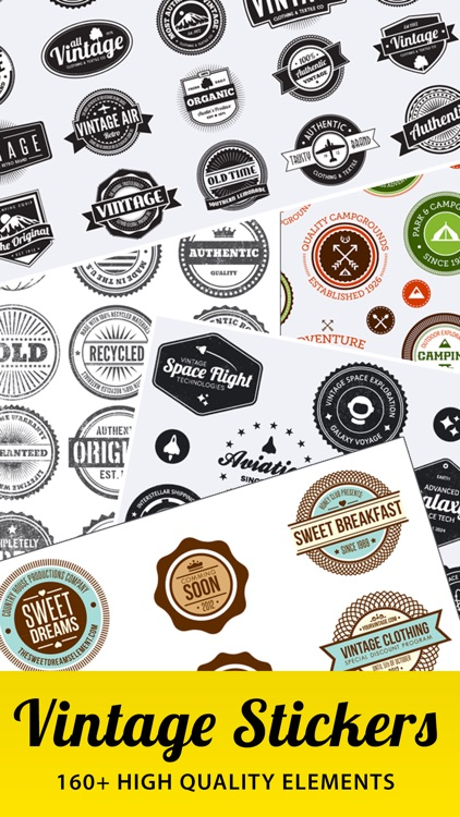 Vintage Stickers. Beautiful retro badges & labels