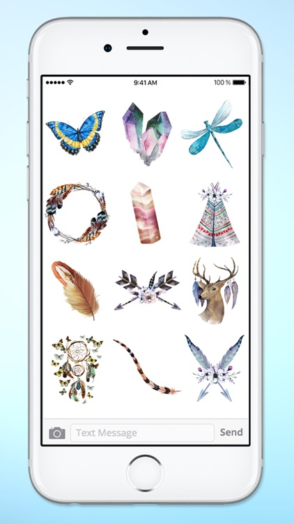 Watercolor Boho Life Sticker Pack screenshot-3