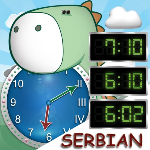 Tick Tock Clock (Serbian) - Learn How to Tell Time