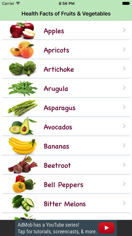 Health Facts of Fruits and Vegetables