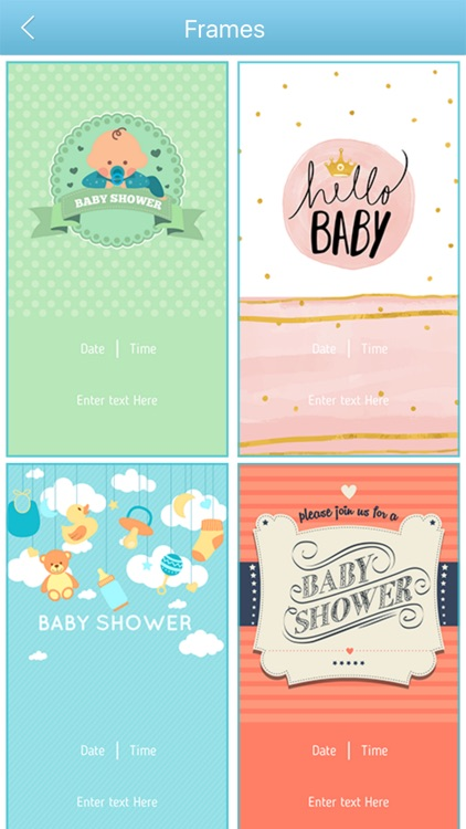 Baby Shower Invitation Cards Maker HD Pro screenshot-3