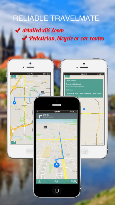 Geneva, Switzerland : Offline GPS Navigation