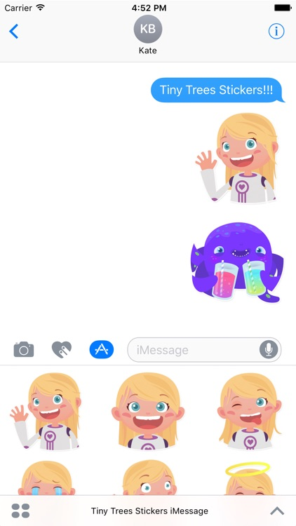 Tiny Trees Stickers for iMessage screenshot-0