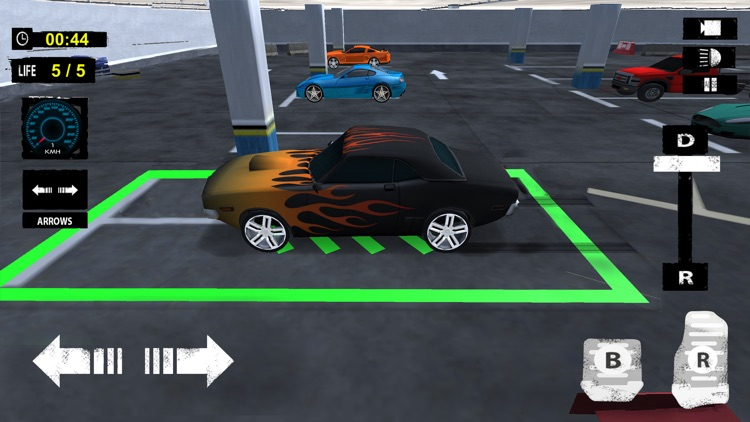 Multi Level Car Parking: Extreme Driving Test Sim