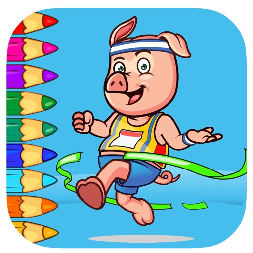 Coloring Page Game For Animal Sport Day Version by Thana Chumnarnchanan