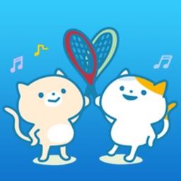Cats Play Tennis Sticker